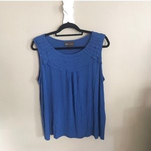 Pleated collar tank